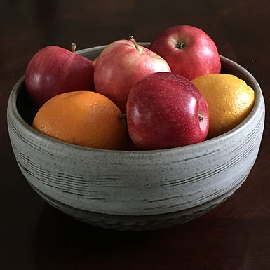 Fruit Bowl in Dark Brown and White