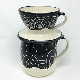 Black & White Coffee Pour Over