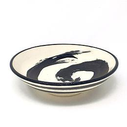 Black & White Solo Brush Stroke Bowl