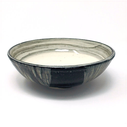 Black and White Bowl with Gray Inner Ring