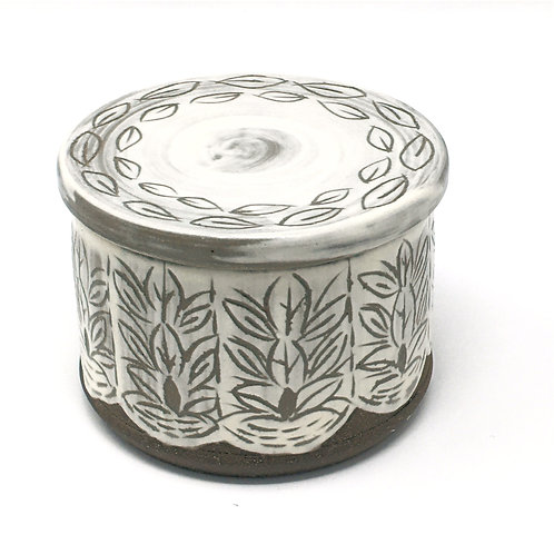 """French Butter Dish - """"Lace"""""""