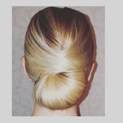 #tb to this classic #chignon I created for a recent wedding