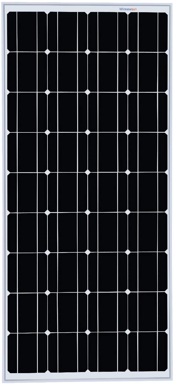 Winnewsun Solar Panel 100 watt Monocrystalline Solar Panels for Homes,RV,Off Grid, Boat, Marine, Camper