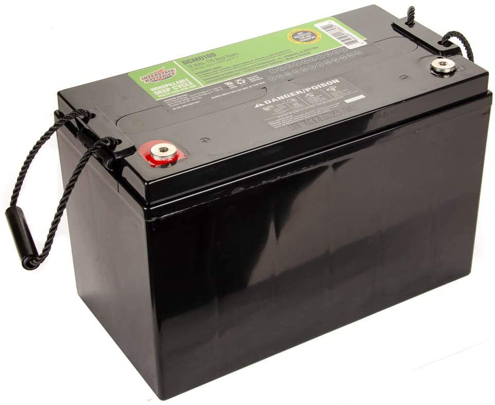 100AH battery applicationsInterstate Batteries 12V 110 AH SLA / AGM Deep Cycle Battery 12V for Solar, Wind, and RV Applications - Insert Terminals (DCM0100) Works with