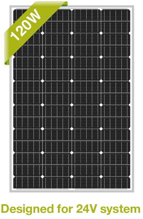 Newpowa 120W 120 Watt 24V Mono Solar Panel Off Grid for RV Marine