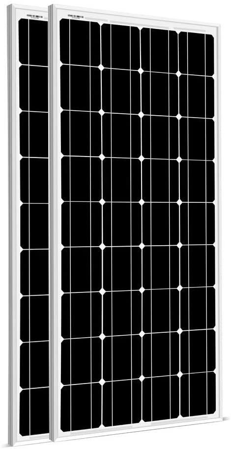 SUNGOLDPOWER 2pcs 100W Solar Panel Monocrystalline Solar Panel Module Grade A Solar Cell