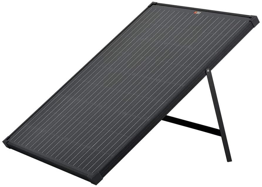 RICH SOLAR 100 Watt 12 Volt Portable Monocrystalline Solar Panel with Kickstand