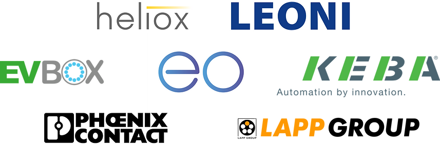 A list of EV charger suppliers for Chargesmart in NZ and Australian including Heliox, Leonie, EVBox, Phoenix Contact, LAPP Group, EO Charging and Keba