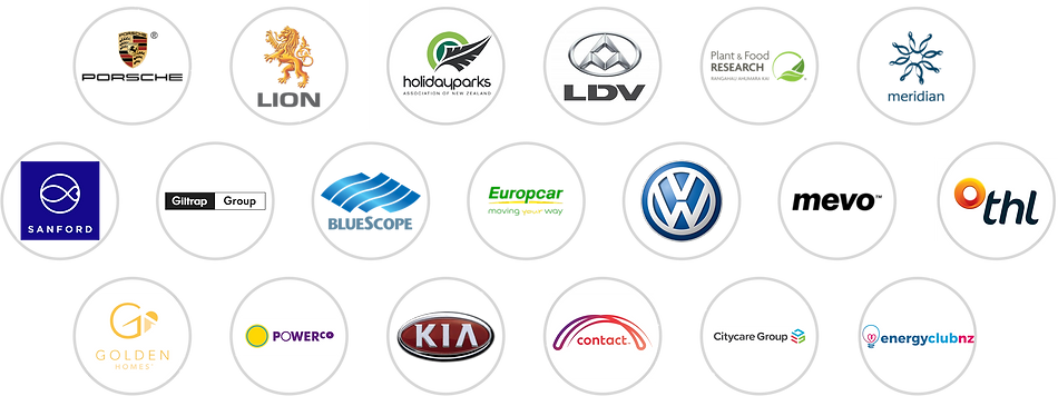 Some of the businesses Chargersmart has sold EV chargers to in NZ and Australia