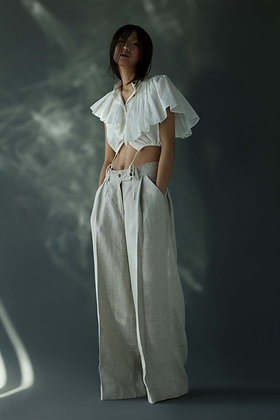 Pleated Trouser in Linen