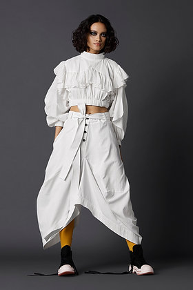 Narrow Dhoti Skirt in Khadi