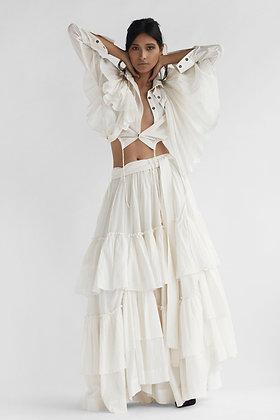 Uneven Frill Skirt
