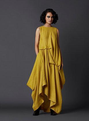 Sleeveless Deconstructed Dress