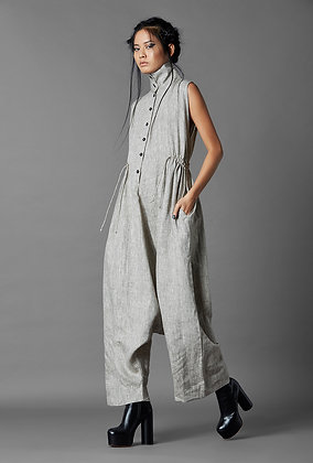 Sleeveless Low Crotch Jumpsuit