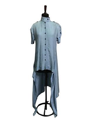 Box Back Panel Shirt in Silk
