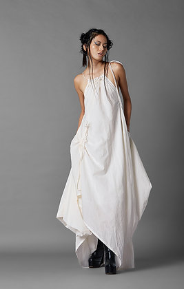 Deconstructed Drawstring Dress