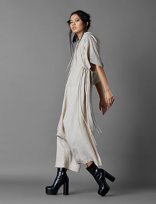 Hooded Low Crotch Jumpsuit