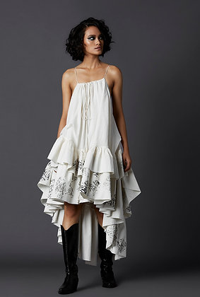 Frill High Low Dress
