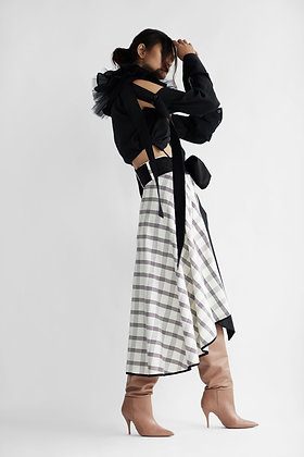 High-Low A-line Skirt