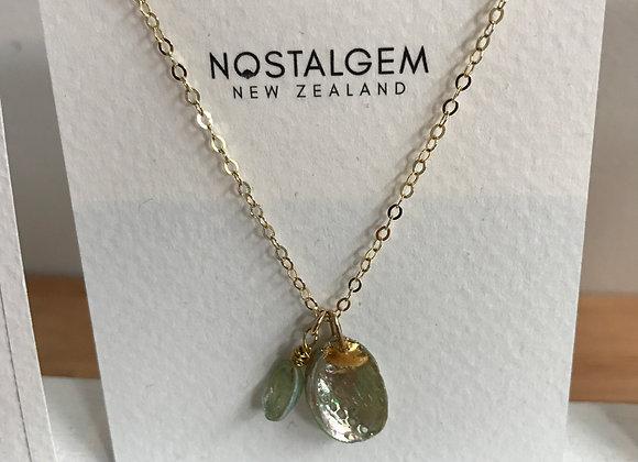 Baby paua shell necklace