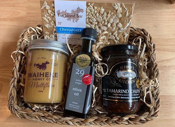 Little gift basket with waiheke goodies