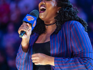 What an HONOR it was to sing the National Anthem for the KICKS game at Madison Square Garden! (click