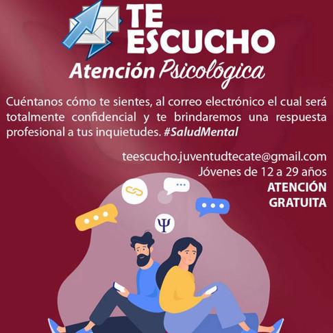 """Promueven en Tecate el correo """"Te escuchó"""" para brindar atención psicológica a jóvenes"""