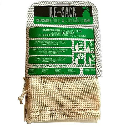Re-Sack Set (2 Sacos de Rede + 1 Algodão)