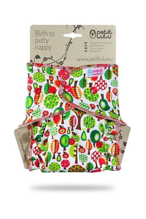 Fruit Trees - Maxi Night Nappy - Fluffy Organic (Snaps)