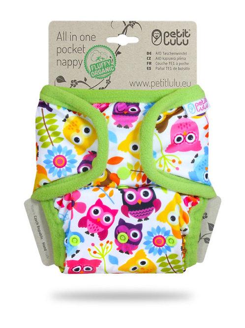 Happy Owls - AIO Pocket Nappy (Snaps)