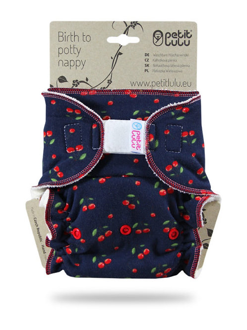 Cherries - Maxi Night Nappy (Hook & Loop)