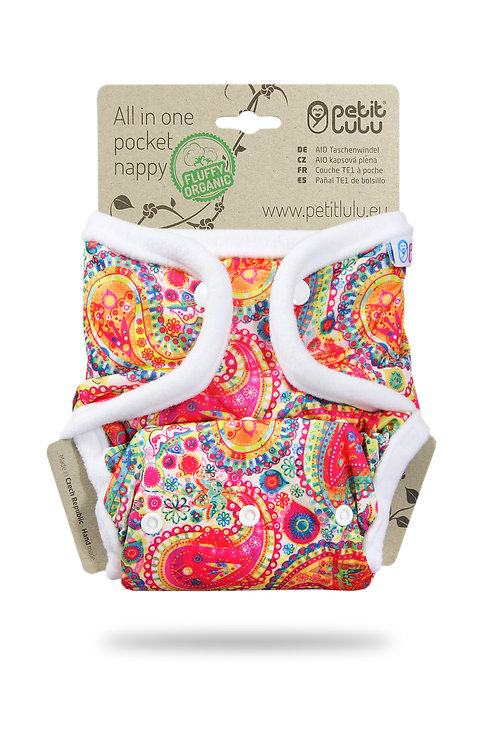Colourful Orient - AIO Pocket Nappy (Snaps)