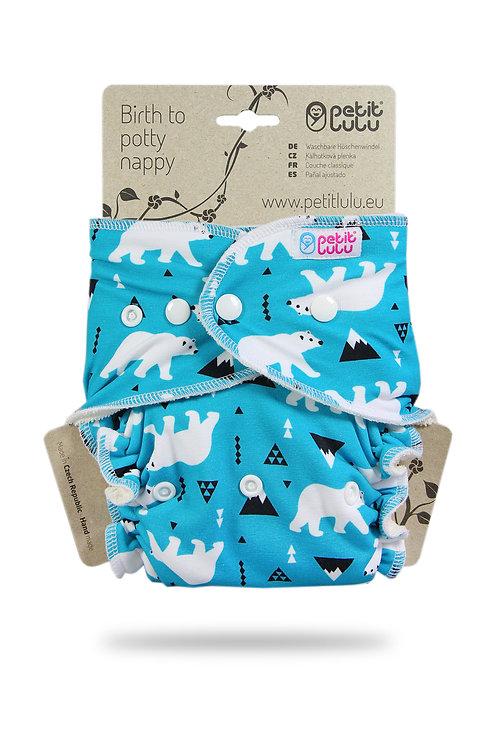 Polar Bears - Maxi Night Nappy - Fluffy Organic (Snaps)