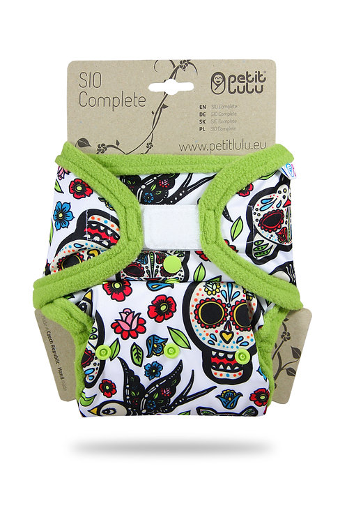 Mexican Skulls (on white) - SIO Complete (Hook & Loop)