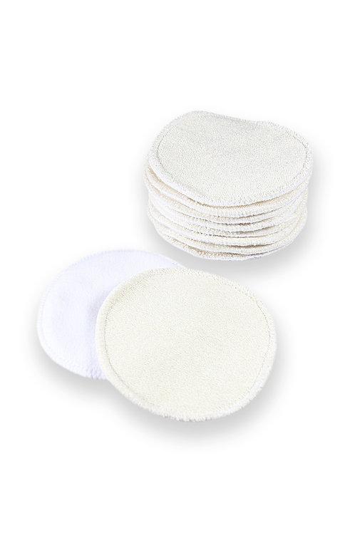 10 Discos de Amamentação Bambu e algodão orgânico - Petit Lulu