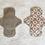 Thumbnail: Pensos Diários em Tecido -18cm (Rosinhas no cinza) - Botica Naif