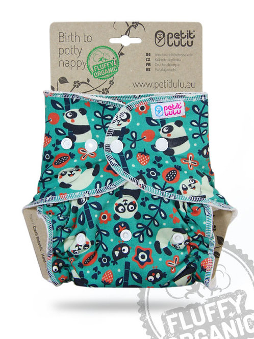 Faddy Pandas - Maxi Night Nappy - Fluffy Organic (Snaps)