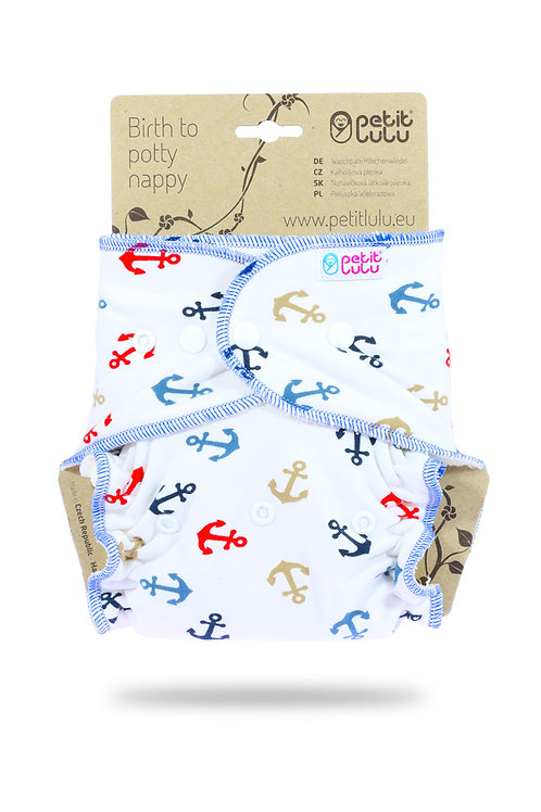Anchors - One Size Nappy (Snaps)