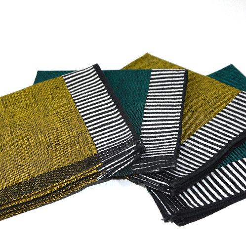 Servietten gelb und grün