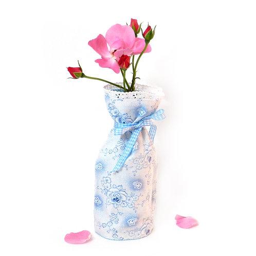 Wende-Blumenvase hellblau