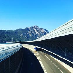 Swiss Highway, Bissone, Switzerland