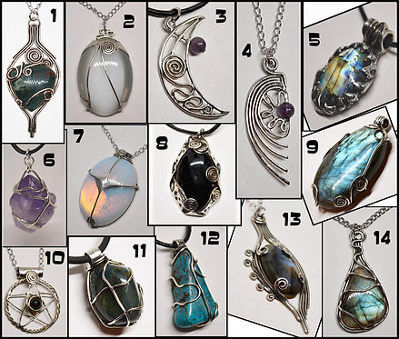 Customize your Stone-Silver  Pendant