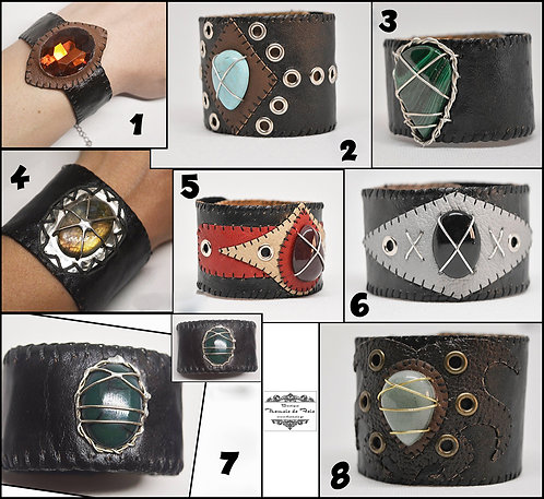 Customize your Stone-Leather Wristband Now