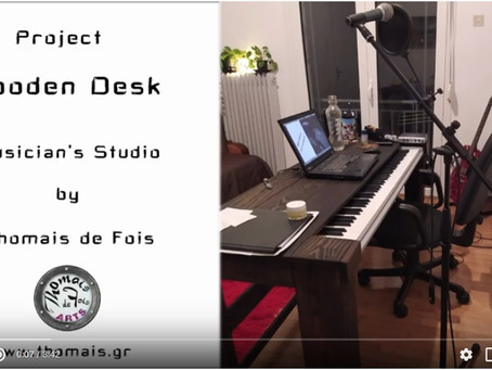 DIY Wooden Desk-Midi Keyboard