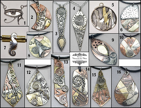 Customizeyour metal Plaque-Pendant (necklace-bracelet-key chain)