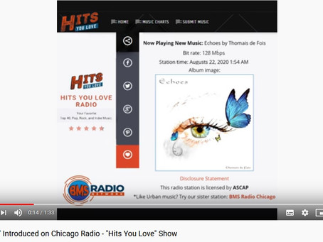 """""""Echoes"""" Introduction on Chicago's Radio - """"Hits You Love"""" Radio Show"""