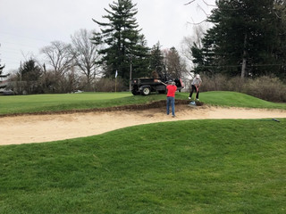 Working Hard On The Sand Traps