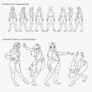 Character Turnaround and Dynamic Poses