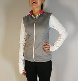 Veste sportive sans manche - Devant / Sport tracksuit jacket without sleeve - Front