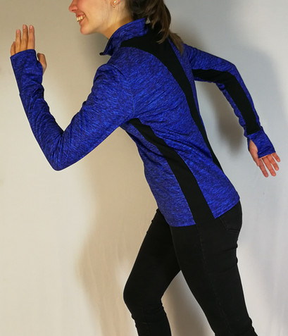 Veste sportive 2 tons - Dos / Sport tracksuit jacket 2 colors - Back